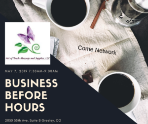 Business Before Hours at Art Of Touch Massage & Spa @ Art of Touch Massage & Spa | Greeley | Colorado | United States