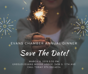 35th Evans Area Chamber of Commerce Annual Dinner & Awards @ Greeley/Evans Moose Lodge | Evans | Colorado | United States