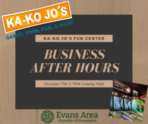 Business After Hours at Ka-Ko Jo's Fun Center @ Ka-Ko Jo's - Greeley Mall | Greeley | Colorado | United States