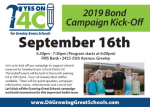 2019 Bond Campaign Kick Off - 4C @ FMS Bank | Greeley | Colorado | United States