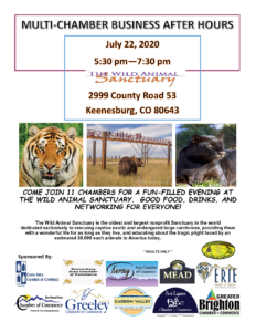 Multi Chamber Business After Hours @ Wild Animal Sancutuary | Keenesburg | Colorado | United States