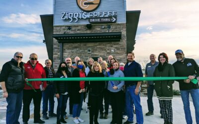 Ribbon Cutting at Ziggy's Coffee Evans