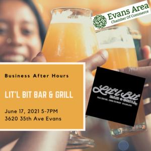 Business After Hours at Lit'l Bit Bar & Grill @ Lit'l Bit Bar & Grill | Evans | Colorado | United States
